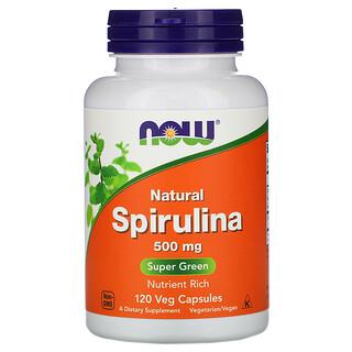 Now Foods, Natural Spirulina, 500 mg, 120 Veg Capsules