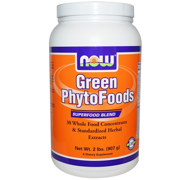 Now Foods, Green PhytoFoods, 2 lbs (907 g) (Discontinued Item)