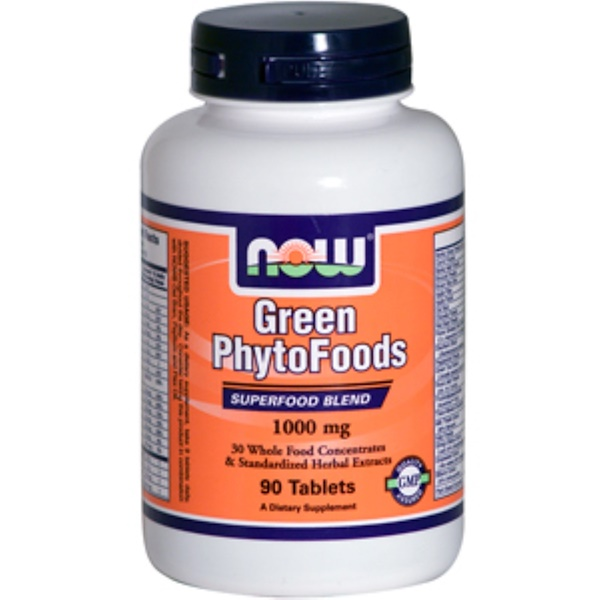 Now Foods, Green PhytoFoods, 1000 mg, 90 Tablets (Discontinued Item)