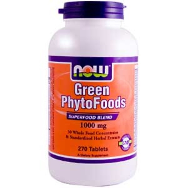 Now Foods, Green Phyto Foods, 1000 mg, 270 Tablets (Discontinued Item)