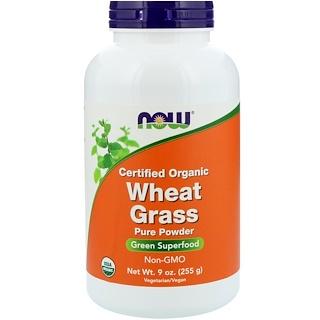 Now Foods, Сертифицированные органические ростки пшеницы, 9 унц. (255 г)