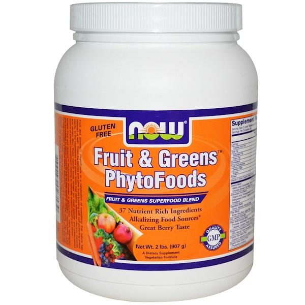 Now Foods, Фитопродукты: фрукты и зелень, ягодный, 2 фунта (907 г) (Discontinued Item)