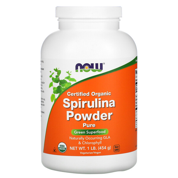 Now Foods, Certified Organic Spirulina Powder, 1 lb (454 g)