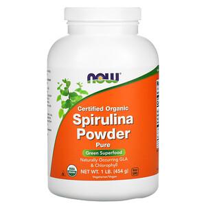 Now Foods, Certified Organic Spirulina Powder, 1 lb (454 g) отзывы