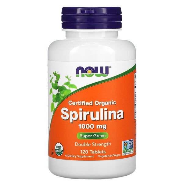 Certified Organic, Spirulina, 1,000 mg, 120 Tablets