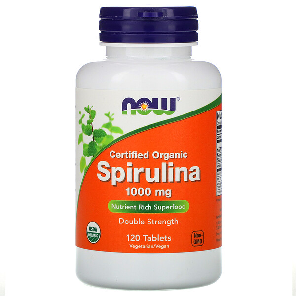 Certified Organic, Spirulina, 1000 mg, 120 Tablets