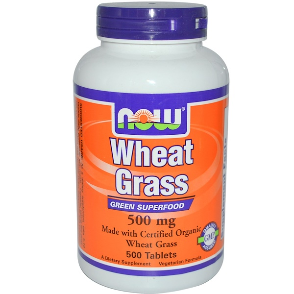 Now Foods, Wheat Grass, 500 mg, 500 mg, 500 Tablets (Discontinued Item)