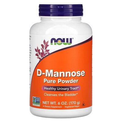 Now Foods D-манноза, чистый порошок, 170г (6унций)