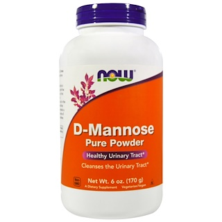 Now Foods, D-Mannose Pure Powder, 6 oz (170 g)