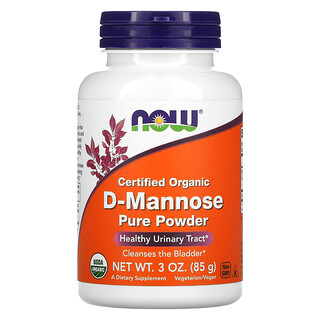 Now Foods, Certified Organic D-Mannose Pure Powder, 3 oz (85 g)