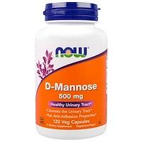 D-манноза, 500мг, 120растительных капсул - фото