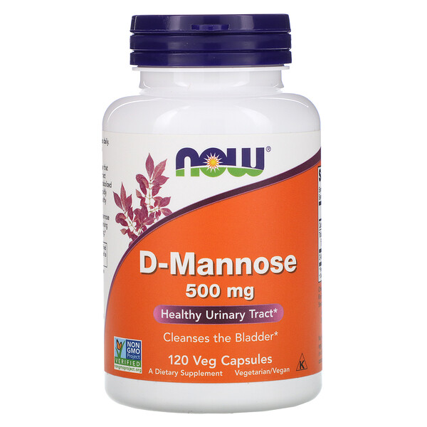 D-Manose, 500 mg, 120 Cápsulas Vegetais