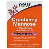 Отзывы о Now Foods, Маннозы клюквы + пробиотики, 24 пакетика, (6 г) каждый