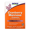 Now Foods, Cranberry Mannose + Probiotics, For Women On The Go, 24 Packets, 0.21 oz (6 g) Each