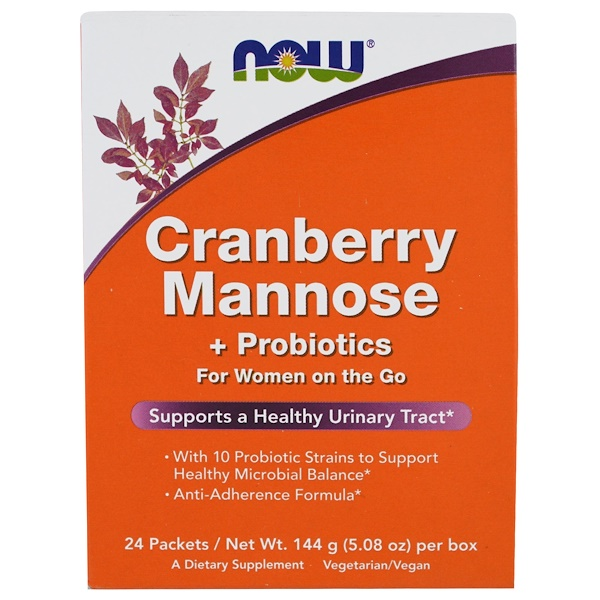 Cranberry Mannose + Probiotics, 24 Packets, (6 g) Each