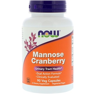 Now Foods, Mannose Cranberry, 90 Veg Capsules