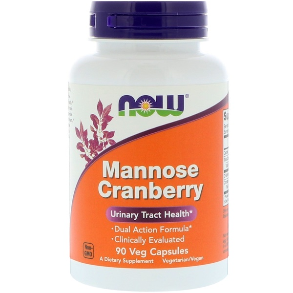 Now Foods, Mannose Cranberry, 90 كبسولة نباتية