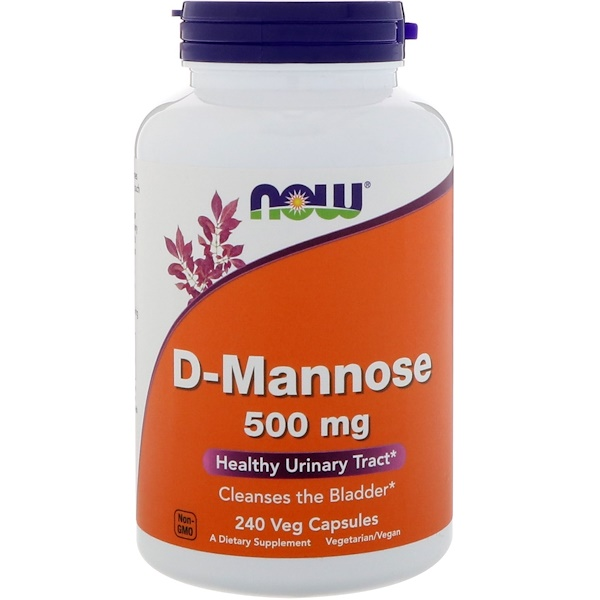 Now Foods, D-Mannose, 500 mg, 240 Veg Capsules