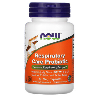 Now Foods, بروبيوتيك للعناية بالجهاز التنفسي، 60 كبسولة نباتية