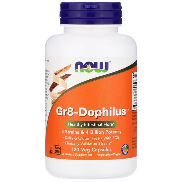 Gr8-Dophilus, 120 cápsulas vegetales