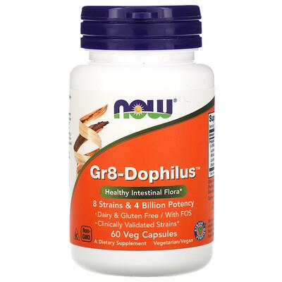 Купить Now Foods Gr8-Dophilus, 60 растительных капсул