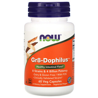 Now Foods,  Gr8-Dophilus, 60 كبسولة نباتية