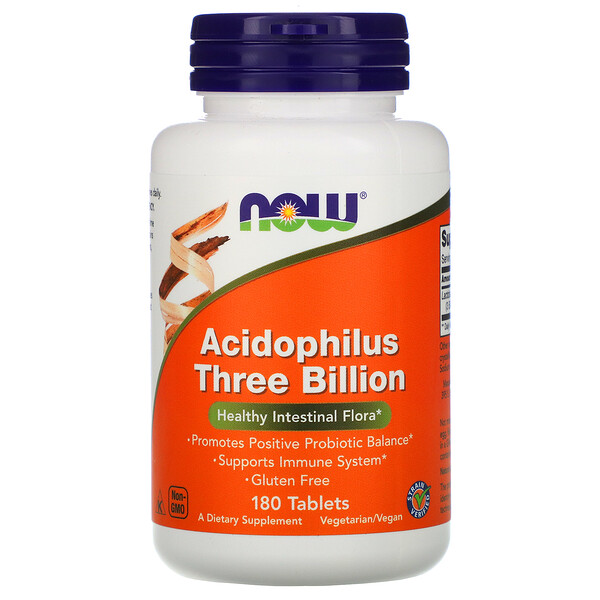 Stabilized Acidophilus Three Billion, 180 Tablets