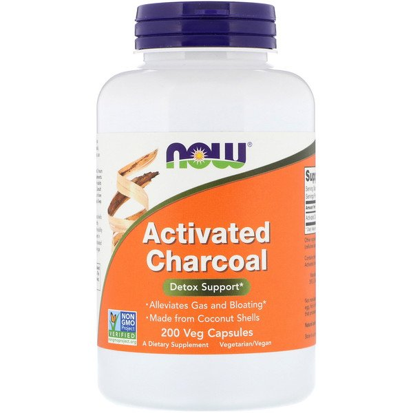 Now Foods, Activated Charcoal, 200 Veg Capsules