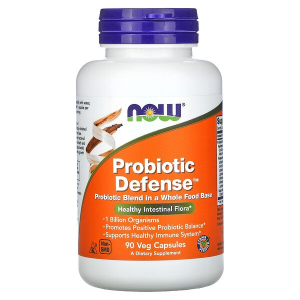 Now Foods, Probiotic Defense, 90 cápsulas vegetales