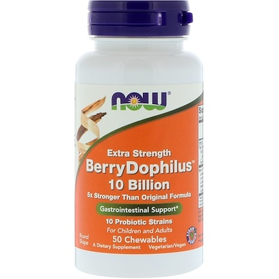Экстра сила, Berry Dophilus, 50 жевательных таблеток