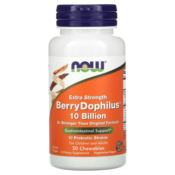 Extra Strength, Berry Dophilus, 50 Chewables