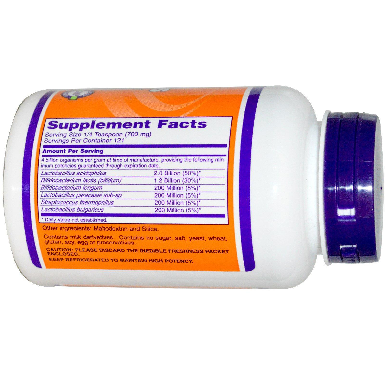 Now Foods, Acidophilus 4x6, Powder, 3 oz (85 g) (Discontinued Item)