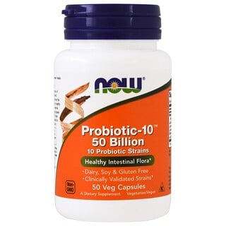 Now Foods, Probiotic-10, 50 milliards, 50 capsules végétales