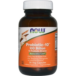 Now Foods, Probiotic-10, 100 Milliarden, 30 Veg-Kapseln