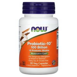 Now Foods, Probiotic-10, Restorative Care, 100 Billion, 30 Veg Capsules