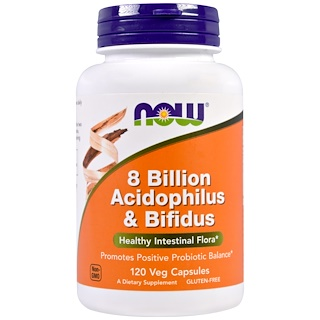 Now Foods, 8 Billion Acidophilus & Bifidus, 120 Veggie Caps