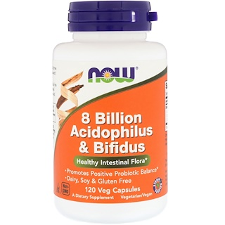Now Foods, 8 Milliarden Acidophilus & Bifidus, 120 vegetarische Kapseln