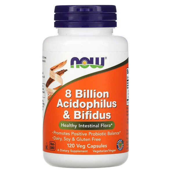 8 Billion Acidophilus & Bifidus, 120 Veg Capsules