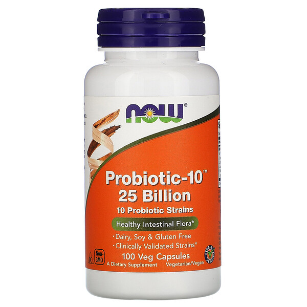 Now Foods, Probiotic-10,250 億,100 粒素食膠囊