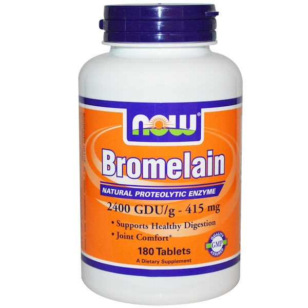 Now Foods, Bromelain, 415 mg, 180 Tablets (Discontinued Item)