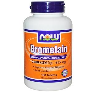 Now Foods, Bromelain, 415 mg, 180 Tablets отзывы покупателей