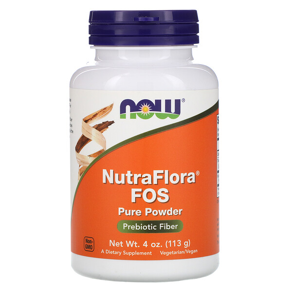 Now Foods, NutraFlora FOS, 순수한 파우더, 4 oz (113 g)