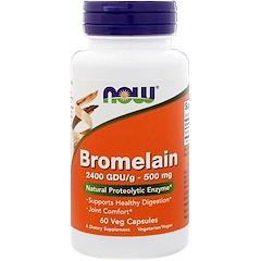 Now Foods, ブロメライン、500 mg、植物性カプセル 60粒