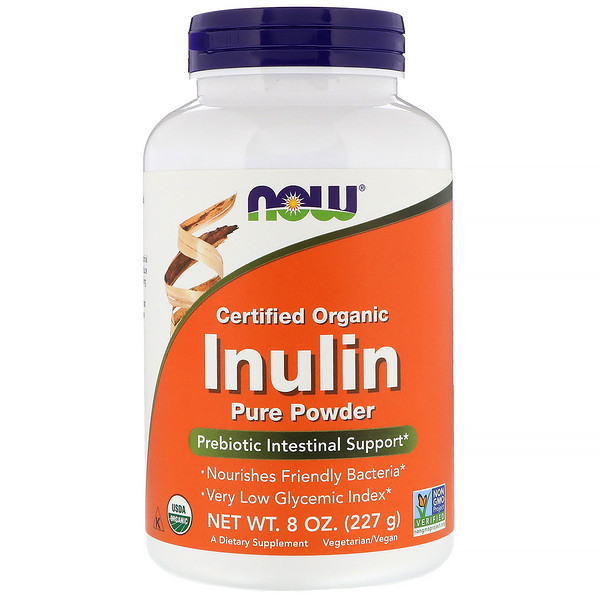 Certified Organic Inulin, Prebiotic Pure Powder, 8 oz (227 g)