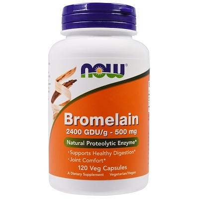 Купить Бромелин, 500 мг, 120 вегетарианских капсул