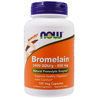 Now Foods, Bromelain, 500 mg, 120 Veg Capsules