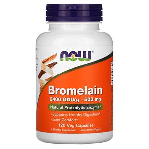 Now Foods, Bromelain, 500 mg, 120 Veg Capsules отзывы покупателей