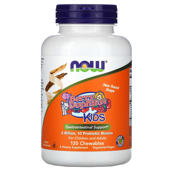 Now Foods, Berry Dophilus, Kids, 2 Billion CFU, 120 Chewables
