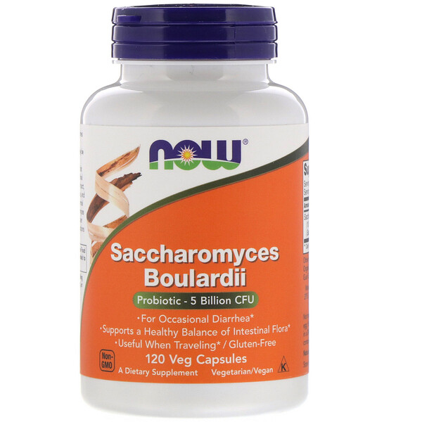 Now Foods, Saccharomyces Boulardii, 5 Billion CFU, 120 Veg Capsules