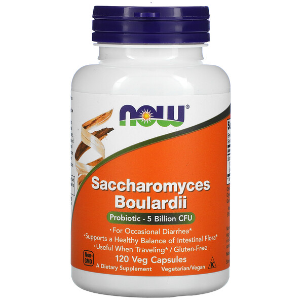 Now Foods, Saccharomyces Boulardii, 5 Billion CFU, 120 Veg Capsules